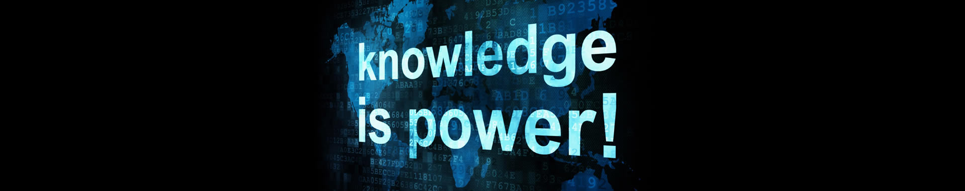 "This page of planning calculators contains a banner image with the words ""Knowledge is Power."""