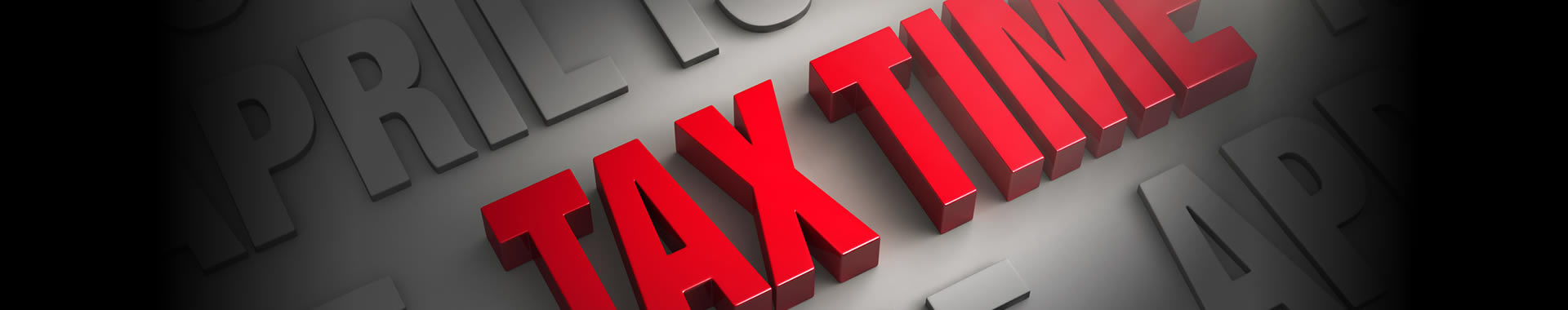 """An image with the words """"Tax time"""" depicts the concept of a tax calendar."""